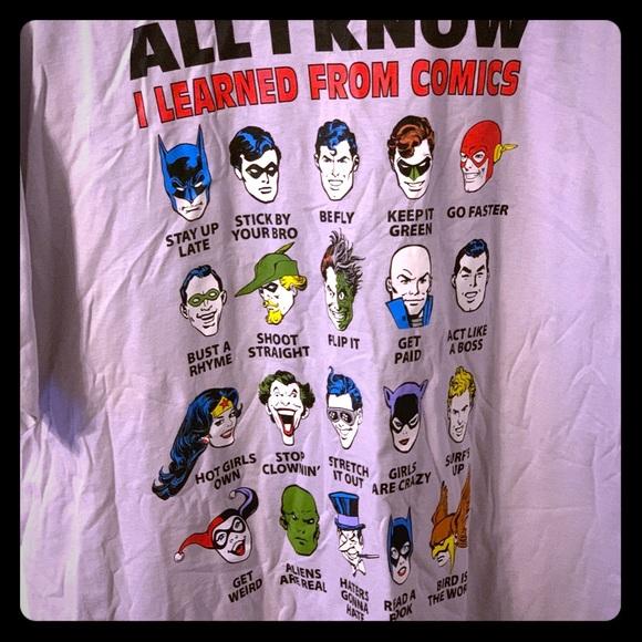 "DC Comics Other - DC Comics ""All I Know"" character T-Shirt, XXL"
